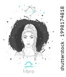 libra zodiac sign and...   Shutterstock .eps vector #1998174818