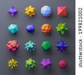 3d mixed geometrical complex... | Shutterstock . vector #199821002