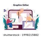 illustration designer online... | Shutterstock .eps vector #1998215882