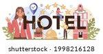 hotel typographic header....   Shutterstock .eps vector #1998216128