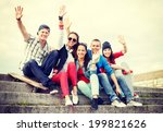 summer holidays and teenage... | Shutterstock . vector #199821626