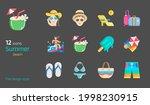 summer beach travel flat design ...   Shutterstock .eps vector #1998230915