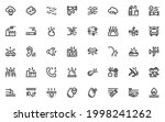 set of pollution line icons ...   Shutterstock .eps vector #1998241262
