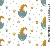 cute dinosaur seamless pattern. ...   Shutterstock .eps vector #1998266225