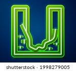 glowing neon line cemetery... | Shutterstock .eps vector #1998279005
