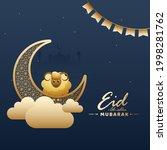 islamic festival of sacrifice... | Shutterstock .eps vector #1998281762