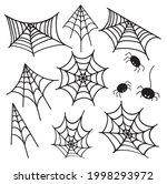 web spider web  icon set.... | Shutterstock .eps vector #1998293972