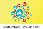 like and love icon. social...   Shutterstock .eps vector #1998314528
