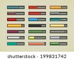 retro game bars | Shutterstock .eps vector #199831742