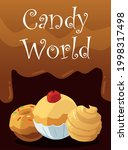 candy world banner template...