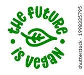 the future is vegan  ... | Shutterstock .eps vector #1998335795