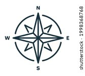 compass line icon. simple flat... | Shutterstock .eps vector #1998368768