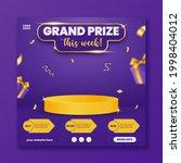 grand prize announcement social ... | Shutterstock .eps vector #1998404012