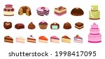 cartoon sweets. cake candy...   Shutterstock .eps vector #1998417095