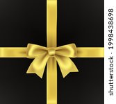 gift box with golden decorative ... | Shutterstock .eps vector #1998438698