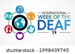 international week of the deaf... | Shutterstock .eps vector #1998439745