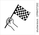 race flag icon. competition... | Shutterstock .eps vector #1998457202