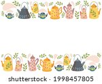 a set of teapots. scandinavian...   Shutterstock .eps vector #1998457805