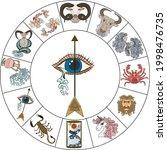 sagittarius of astrology design.... | Shutterstock .eps vector #1998476735