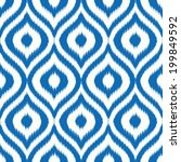 seamless ikat ogee background... | Shutterstock .eps vector #199849592