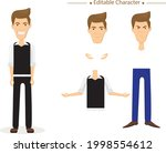 editable male character. set of ...   Shutterstock .eps vector #1998554612