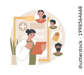family doctor abstract concept... | Shutterstock .eps vector #1998564668