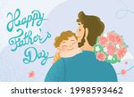happy father's day celebration... | Shutterstock .eps vector #1998593462