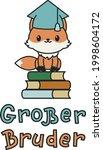 """""""grosser bruder"""" hand drawn...   Shutterstock .eps vector #1998604172"""