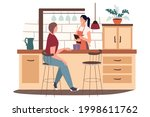 cafe or coffee shop kitchen web ...   Shutterstock .eps vector #1998611762