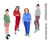 set of vector images of women...   Shutterstock .eps vector #1998653498