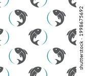 seamless pattern with fish on... | Shutterstock .eps vector #1998675692