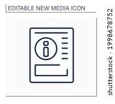 gazette line icon. article on...   Shutterstock .eps vector #1998678752