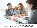 family meeting real estate... | Shutterstock . vector #199870862