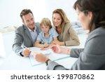family meeting real estate... | Shutterstock . vector #199870862