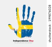 independence day. grungy style. ... | Shutterstock .eps vector #199876028