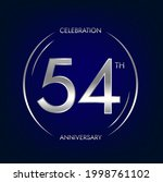 54th anniversary. fifty four...   Shutterstock .eps vector #1998761102