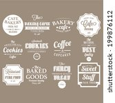 set of retro bakery labels ... | Shutterstock .eps vector #199876112