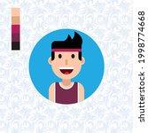 vector active athletic kid ... | Shutterstock .eps vector #1998774668