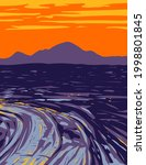 vast ocean of lava flows in... | Shutterstock .eps vector #1998801845