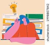 businesswoman with light bulb ... | Shutterstock .eps vector #1998807842