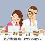 two business people resting... | Shutterstock .eps vector #1998808982