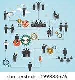 workforce  team working ... | Shutterstock .eps vector #199883576