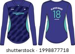 women long sleeve sports jersey ... | Shutterstock .eps vector #1998877718