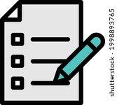 checklist vector colour line...