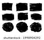set of ink brush stroke. black... | Shutterstock .eps vector #1998904292