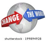 change the world arrows around... | Shutterstock . vector #199894928