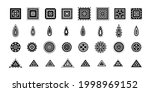 set of vector geomitrical... | Shutterstock .eps vector #1998969152
