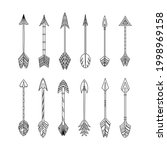 set of vector arrow in boho... | Shutterstock .eps vector #1998969158