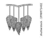 vector illustration of macrame... | Shutterstock .eps vector #1998971432