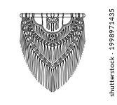 vector illustration of macrame... | Shutterstock .eps vector #1998971435